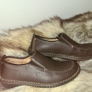 Born Sz 7 Brown Leather Comfort Shoes
